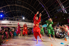 Indian dancers performing a choreography