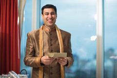 Indian groom reading Maharani's letter