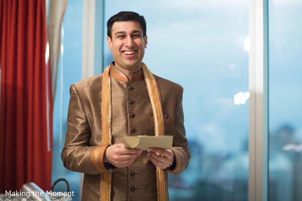 Indian groom reading Maharani's letter