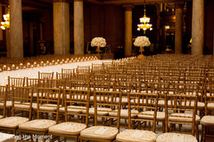 Chair setup for the ceremony reception