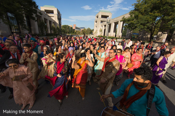 Guests having a blast during baraat