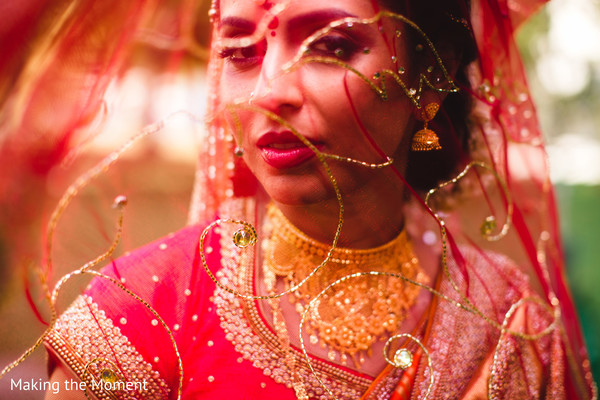 Indian bride's outfit details