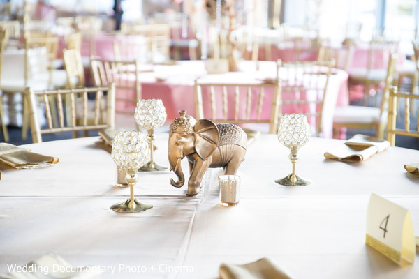 Ornaments of the reception tables
