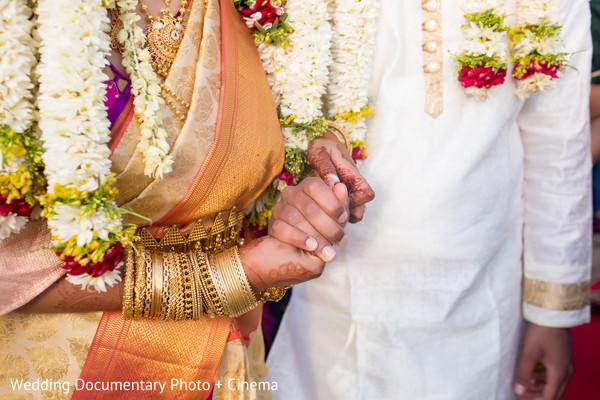 Maharani and Raja holding hands