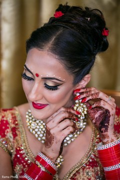Flawless indian bride makeup