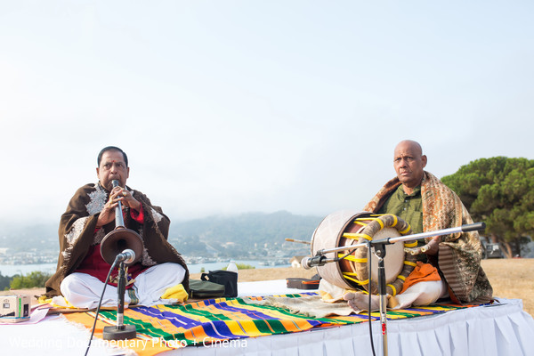 Live musicians performing during the ceremony
