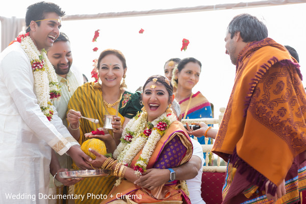 Maharani, Raja and special family guests during the wedding