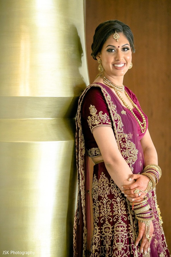 Ravishing Indian bride on her ceremony outfit.