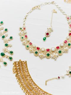 Marvelous Indian bridal ceremony jewelry.