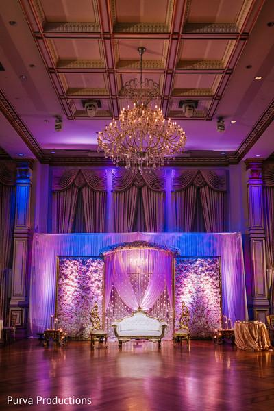 Magnificent Indian wedding venue decoration.