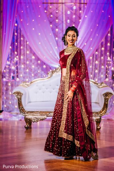 Stunning Indian bride's portrait.