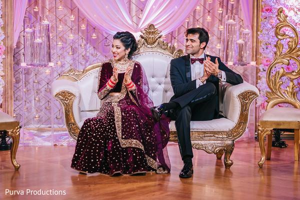Indian wedding reception photography.