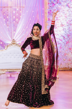 Indian bride showing some dance moves.