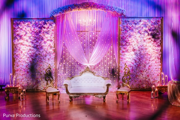 indian wedding reception decor,stage decor,flowers decor,draping
