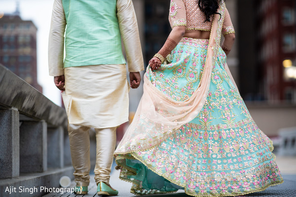 Marvelous Indian pre-wedding sangeet fashion look.