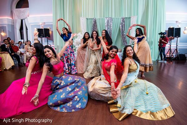 Marvelous Indian bridesmaids sangeet dance.