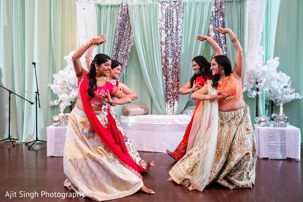 Upbeat Indian bride's maids pre-wedding presentation.