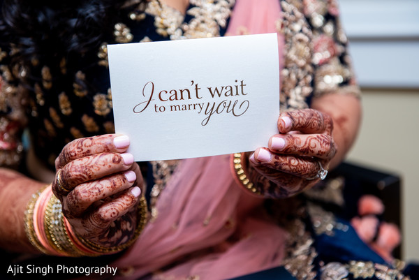 Indian groom's message to bride.