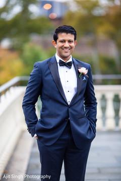 Glamorous Indian groom style.