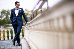 Ravishing indian groom's reception fashion.
