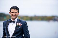 Charming indian groom's portrait.