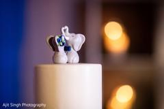 Wonderful Indian wedding elephants cake topper.
