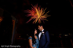Wonderful Indian wedding reception fireworks.