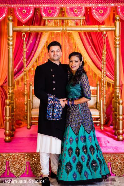 Maharani posing with Indian groom
