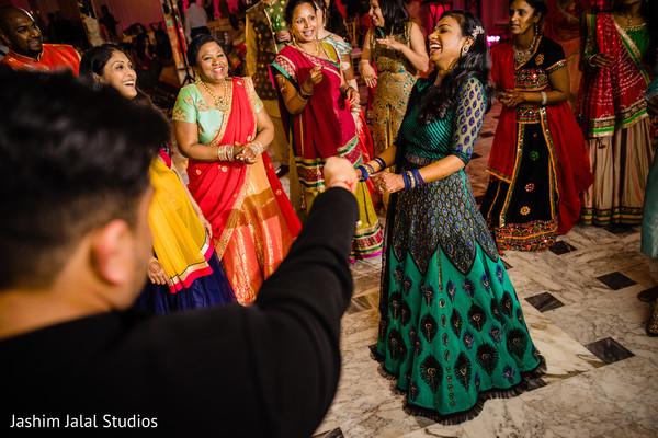 Guests having fun dancing