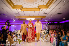 Indian bride making her amazing entrance