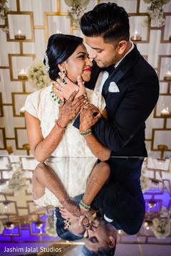 Maharani and Indian groom posing