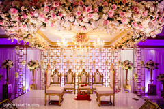 Incredible decoration of the reception venue