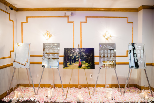 Pictures being shown during the reception