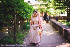 Indian bride outdoors for pictures