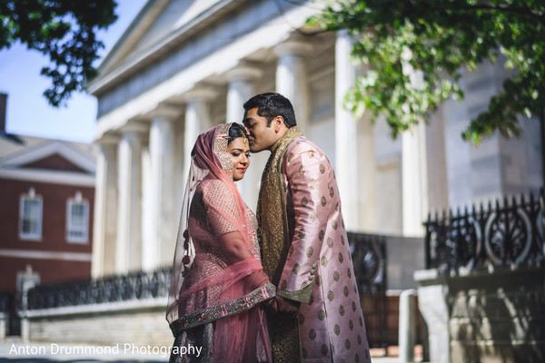 Indian groom and bride having a romantic moment