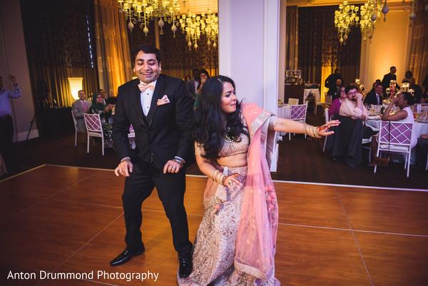 Maharani and Indian groom enjoying the reception