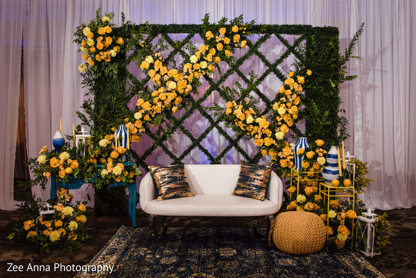 indian pre-wedding decor,flowers decor