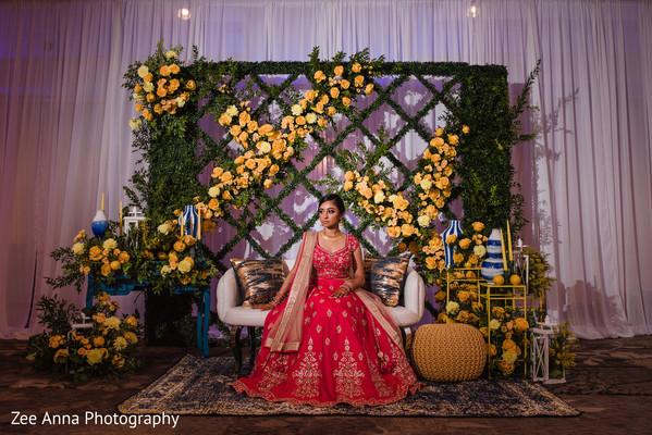 indian pre-wedding decor,maharani,sangeet stage