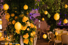 Amazing Indian sangeet lemon tree decor.