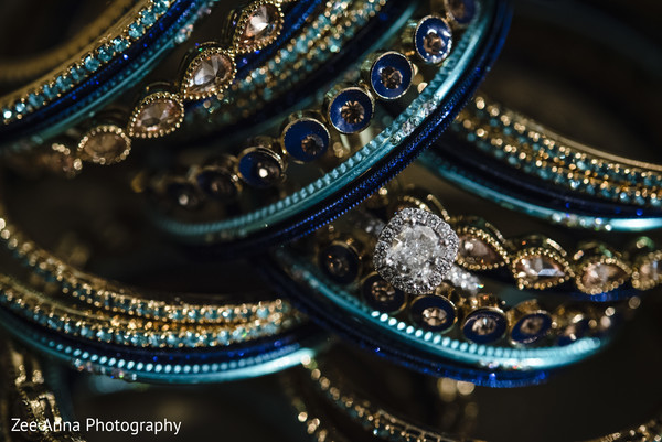 Stunning Indian bridal bangles and wedding ring.