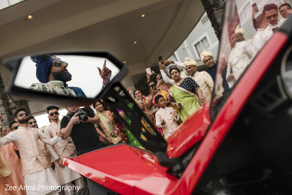 Incredible capture of Indian groom arriving at his baraat.
