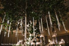Stunning Indian wedding reception teardrops decor.