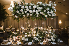 Marvelous Indian wedding flowers and candles decoration.