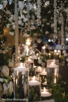 Fabulous indian wedding reception table decor.