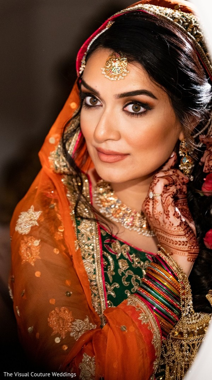 Portrait of the stunning bride