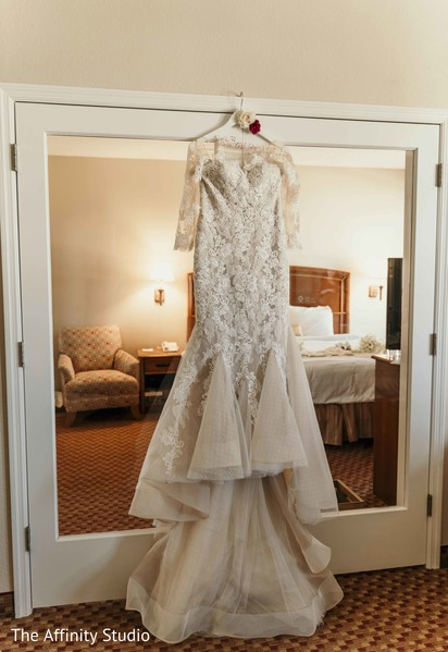 Elegant Indian bridal white wedding dress.