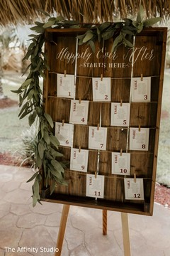 Special Indian wedding guest table number guide.