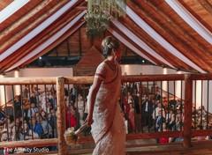 Maharani throwing her bouquet capture.