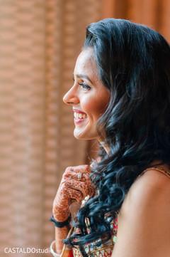 Joyful Indian bride photo.