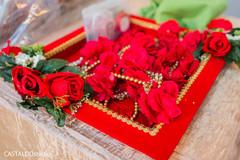 Indian wedding roses garlands capture.